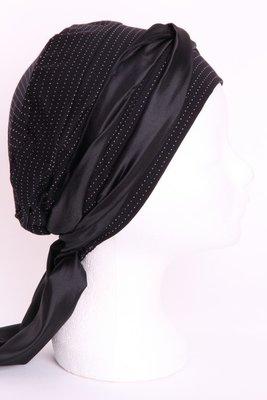 SMP35 Zwart met klein v'tjes Sjaaltje zwart