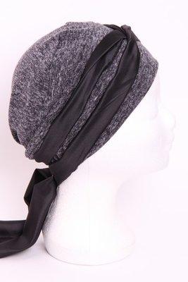 SMP84 Antraciet gemêleerd sjaaltje zwart