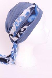 Sjaal JB14/ jeans blauw midden