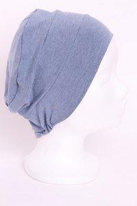 LTS31 Jeans blauw gemêleerd licht tricot